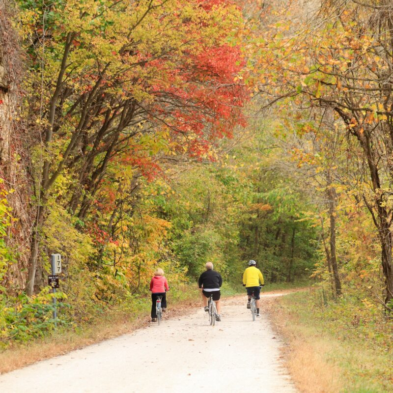 The Katy Trail in Missouri.