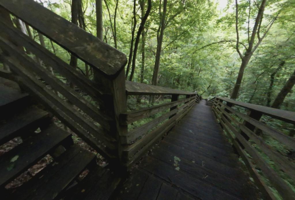 The Kaymoor Miner's Trail in West Virginia.