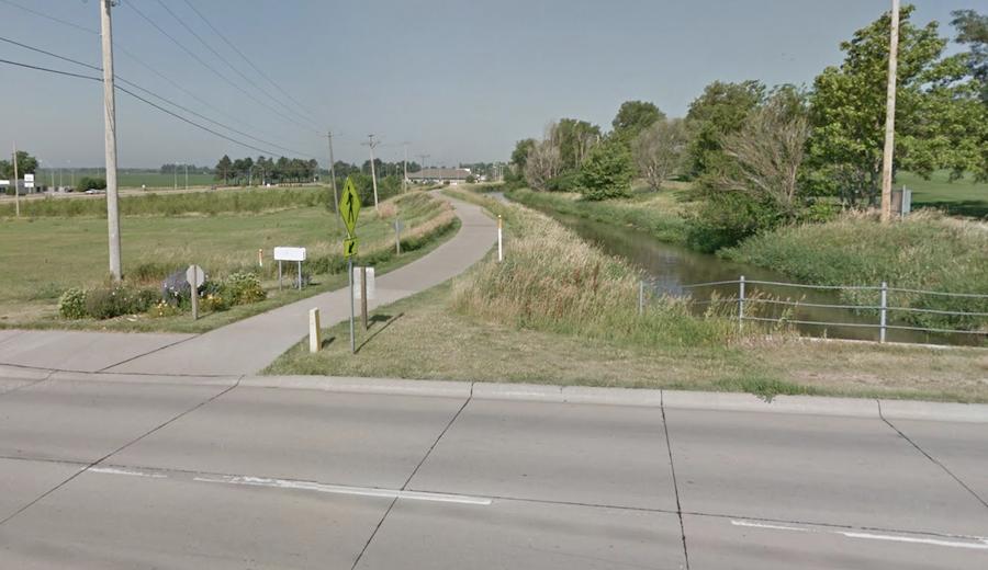 The Kearney Canal Trail in Nebraska.