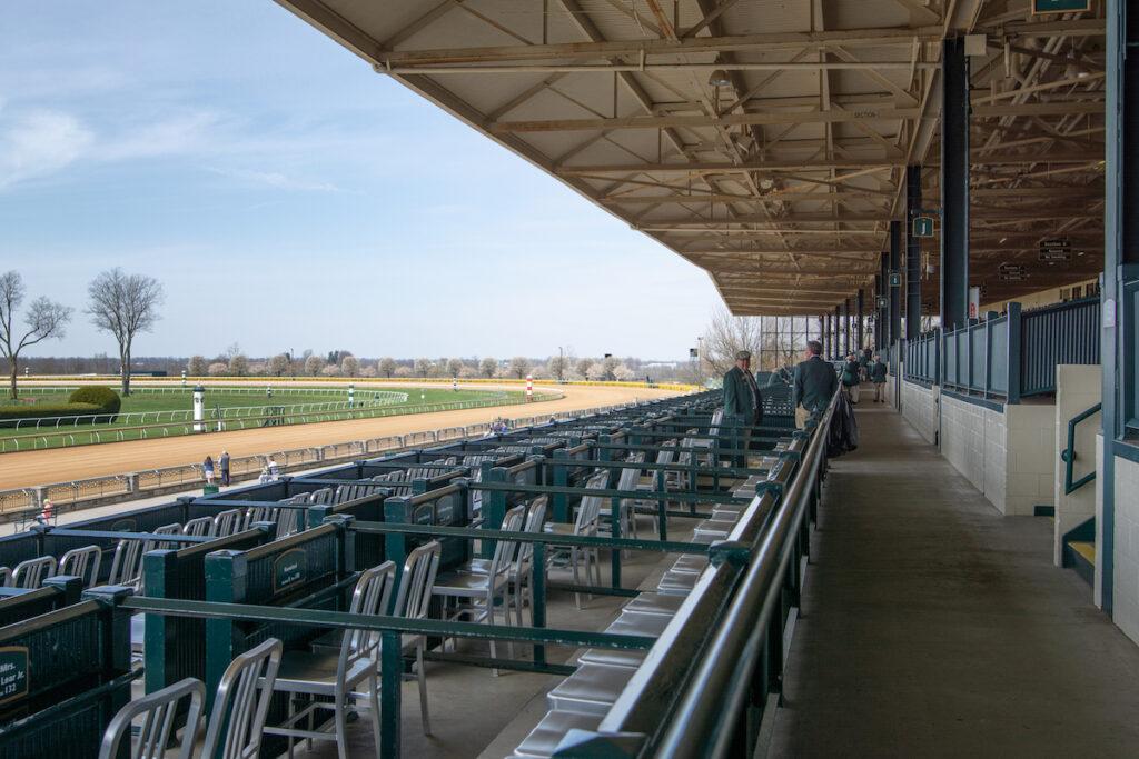 The Keeneland horse racing track in Lexington, Kentucky.