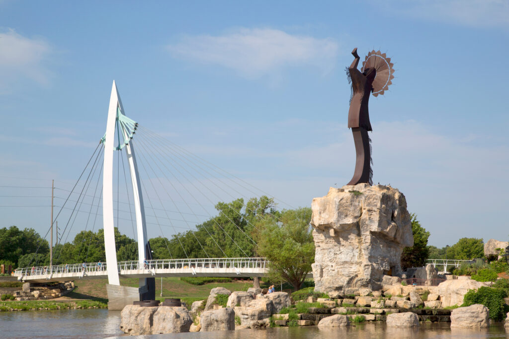 The Keeper of the Plains sculpture in Wichita.