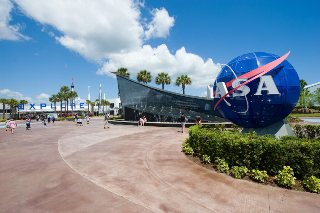 The Kennedy Space Center at Cape Canaveral.