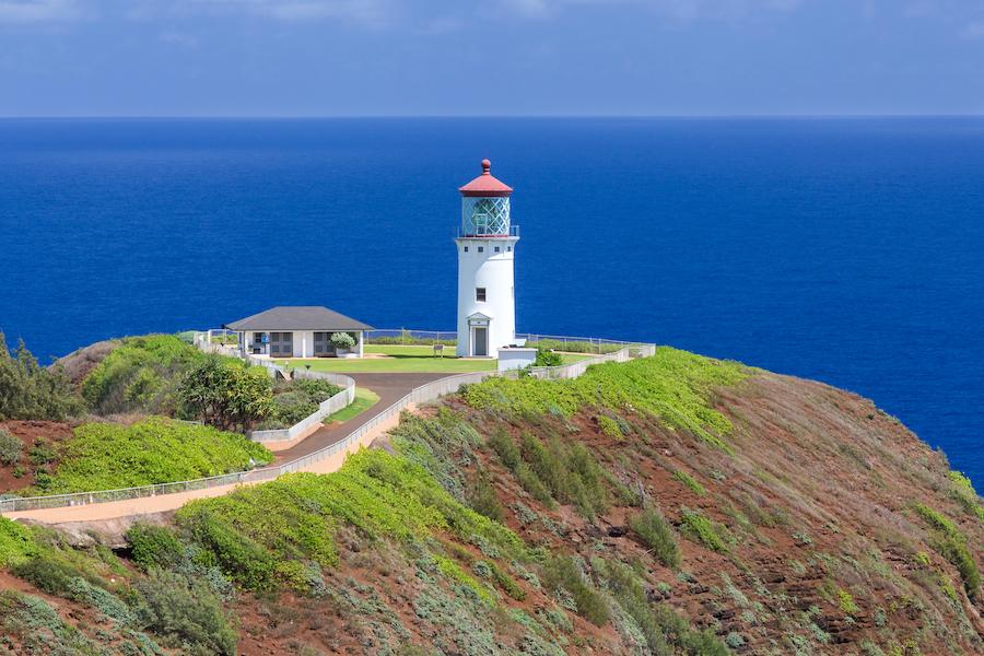 The Kilauea Point Lighthouse on the island of Kauai.