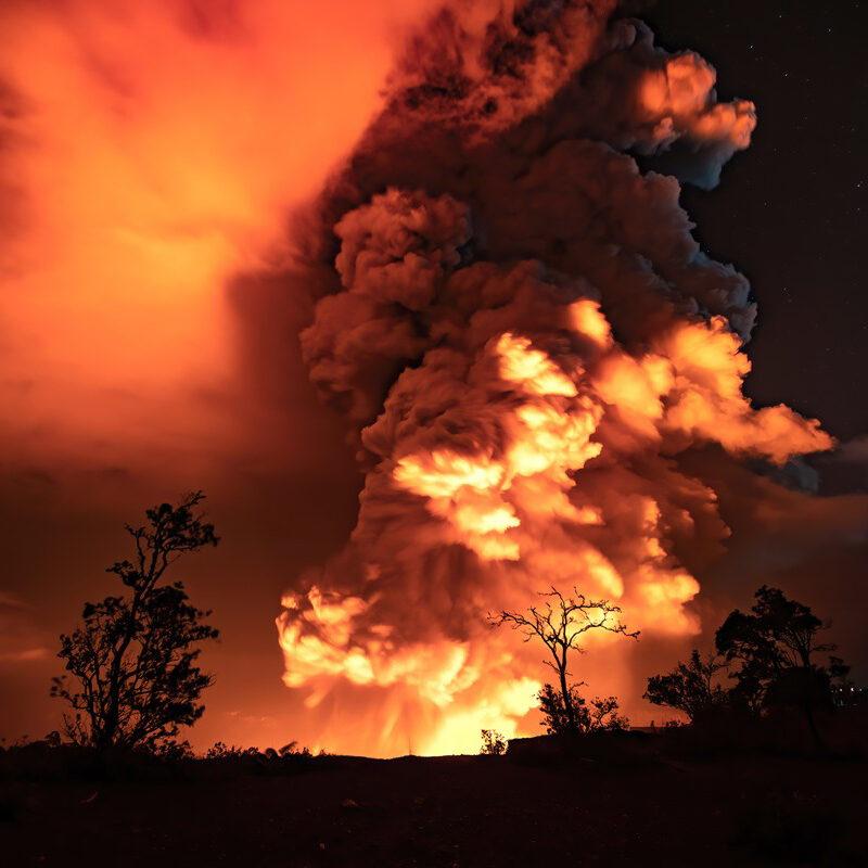 The Kilauea Volcano eruption in Hawaii.