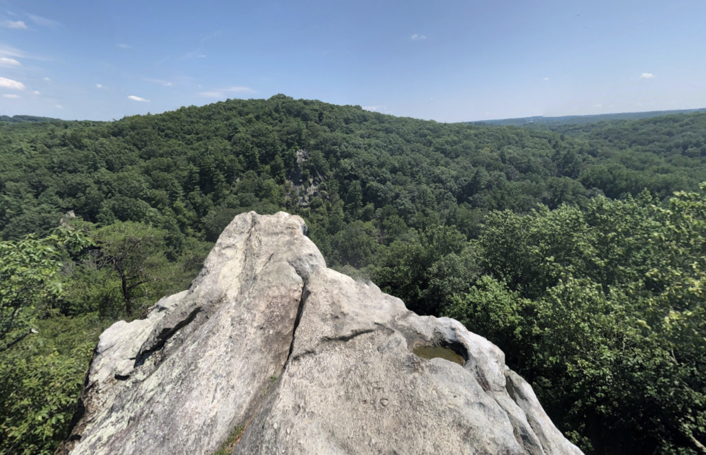 The King and Queen Seat in Rocks State Park, Maryland.