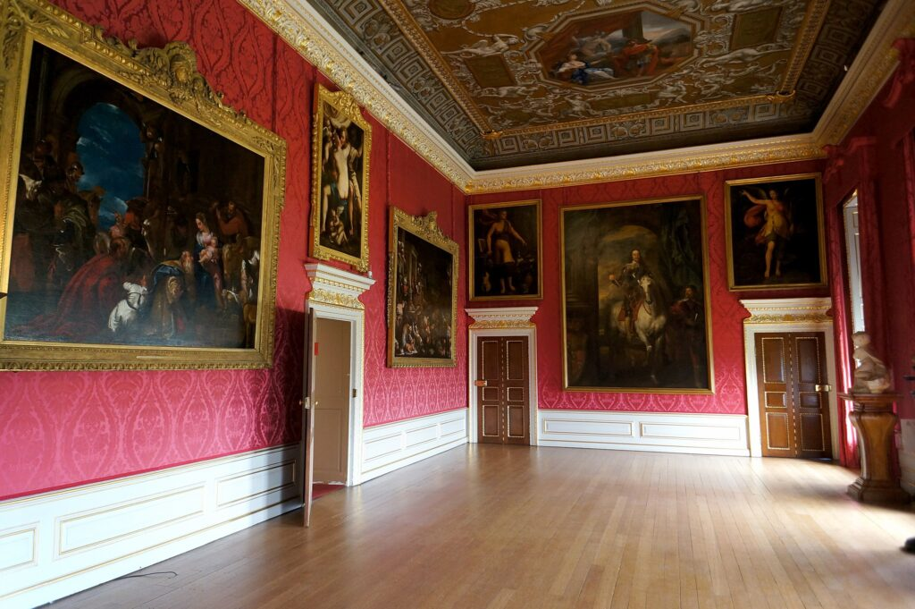 The King's Gallery in the State Apartments at Kensington Palace.