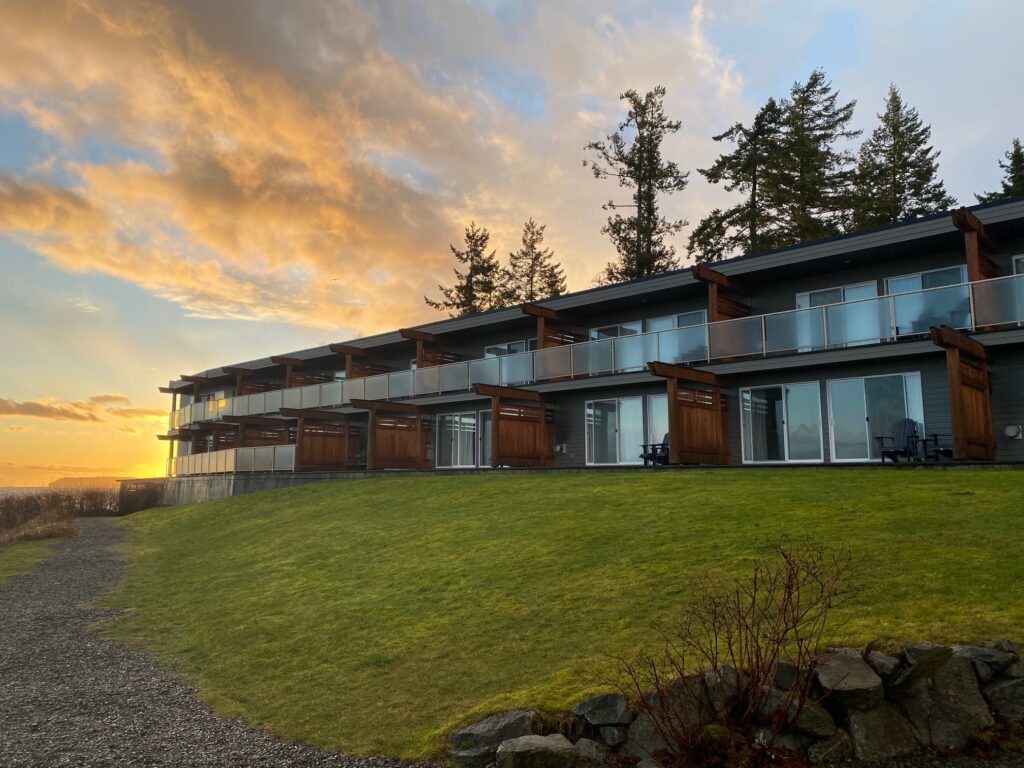 The Kingfisher Oceanside Resort and Spa on Vancouver Island.