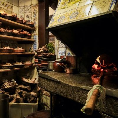 The kitchen at Madrid's Restaurante Botin.