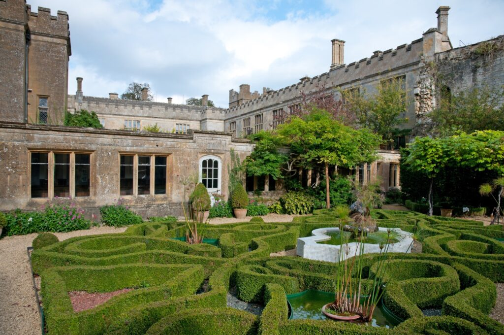The Knot garden at Sudeley Castle.