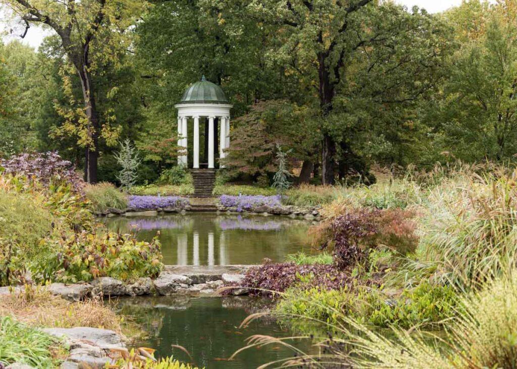 The Koi Pond at the Tulsa Botanic Garden.