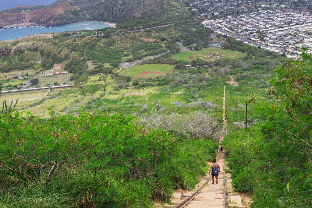 The Koko Crater Trail in Hawaii.