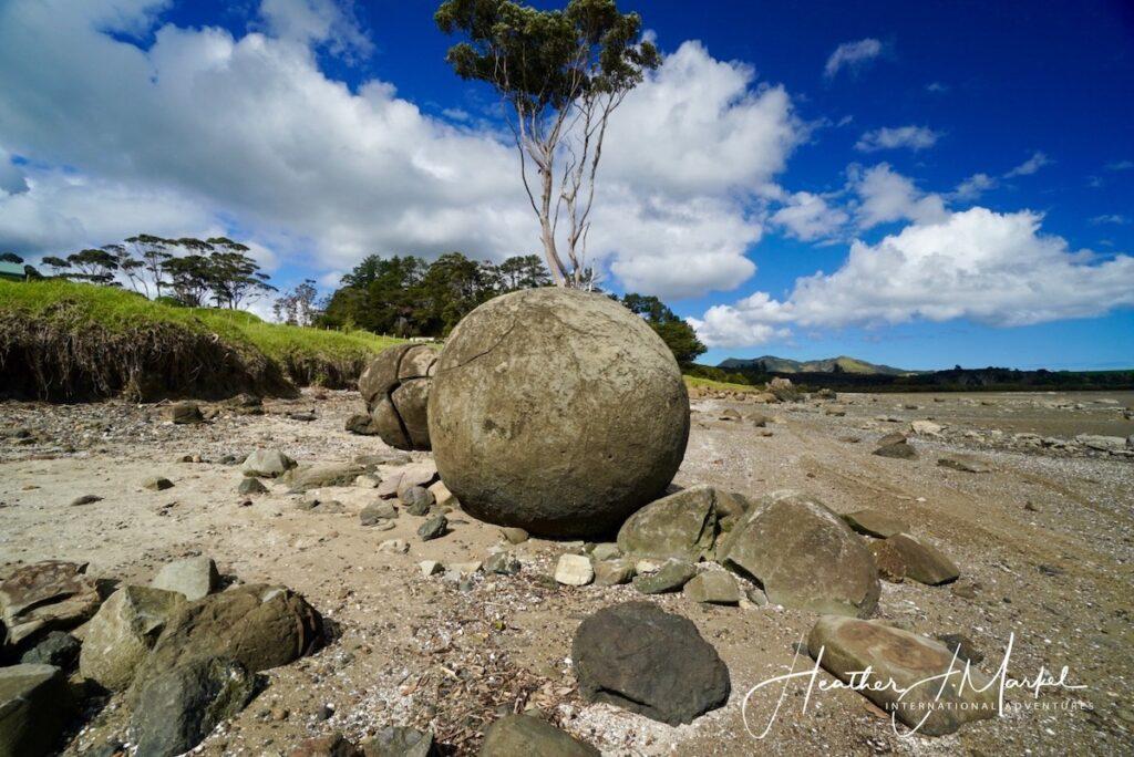 The Koutu Boulders in New Zealand.
