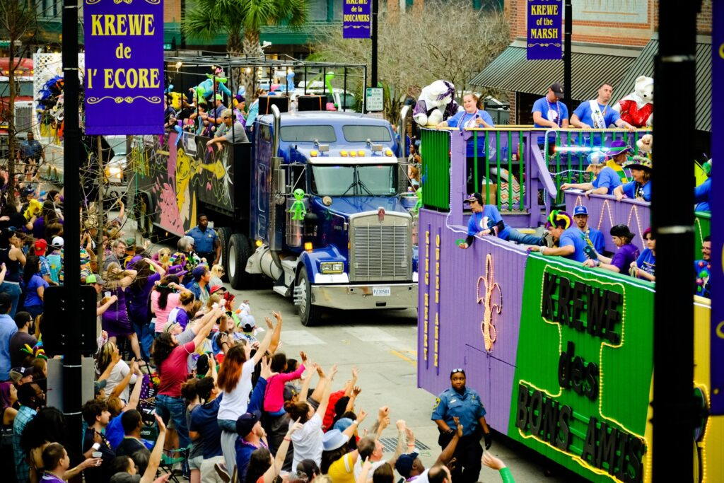 The Krewes Parade in Lake Charles.