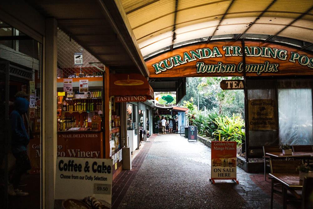 The Kuranda Historic Markets near Cairns.