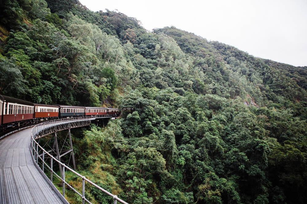 The Kuranda Scenic Railway near Cairns.