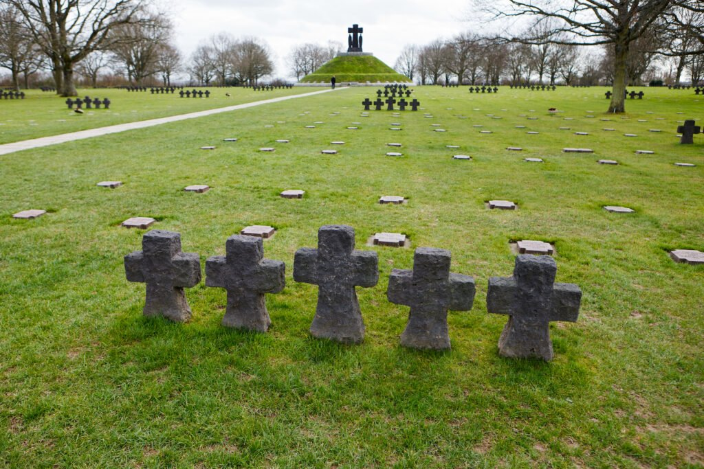 The La Cambe German War Cemetery.
