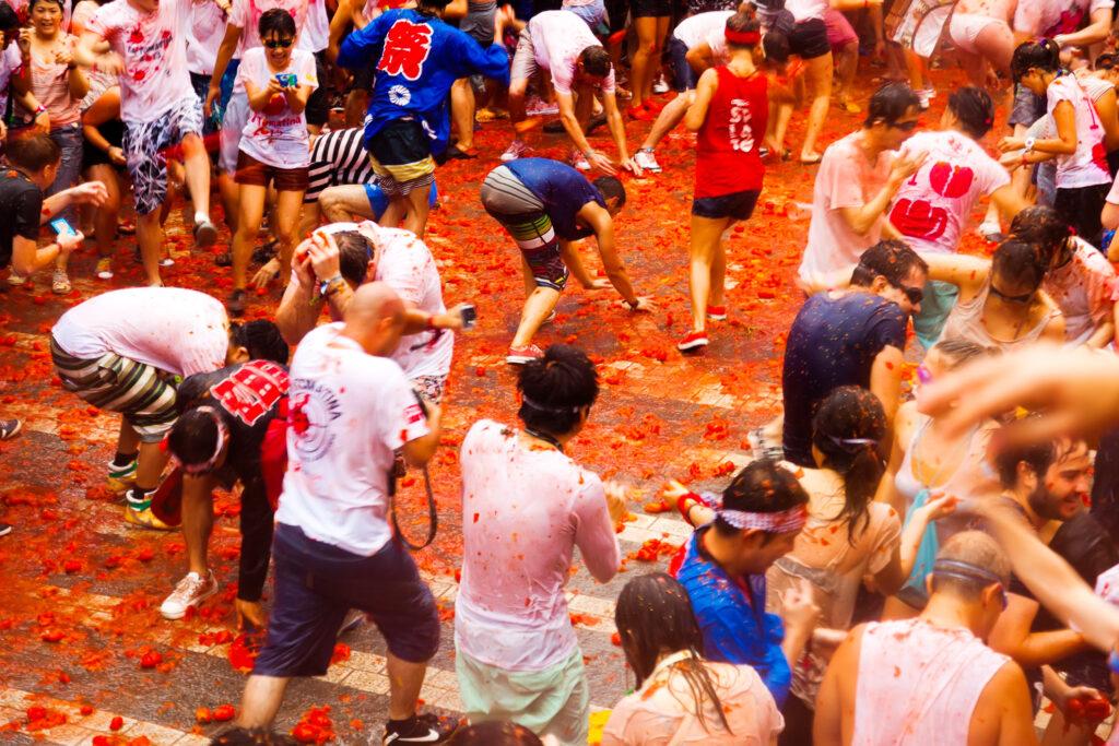 The La Tomatina Festival in Spain.