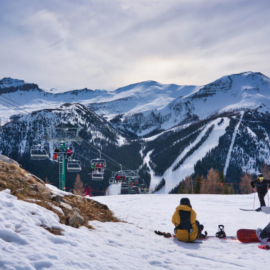 The Lake Louise Ski Resort in Alberta, Canada.