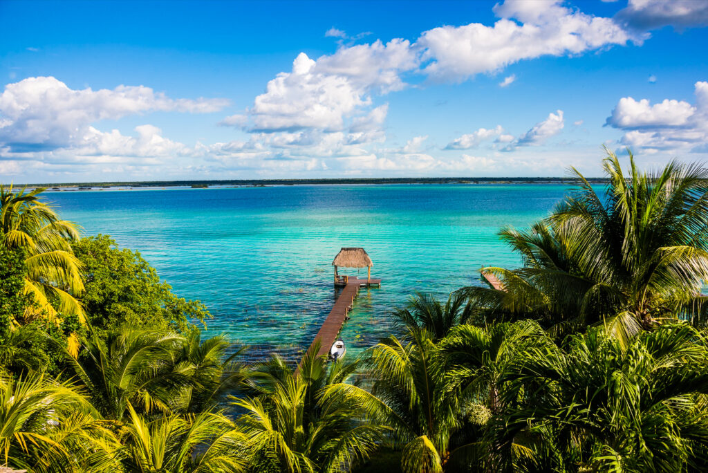"The ""Lake of Seven Colors"" in Bacalar, Mexico."