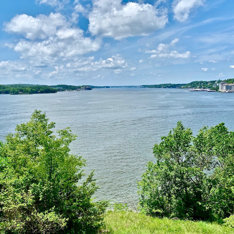The Lake of the Ozarks in Missouri.