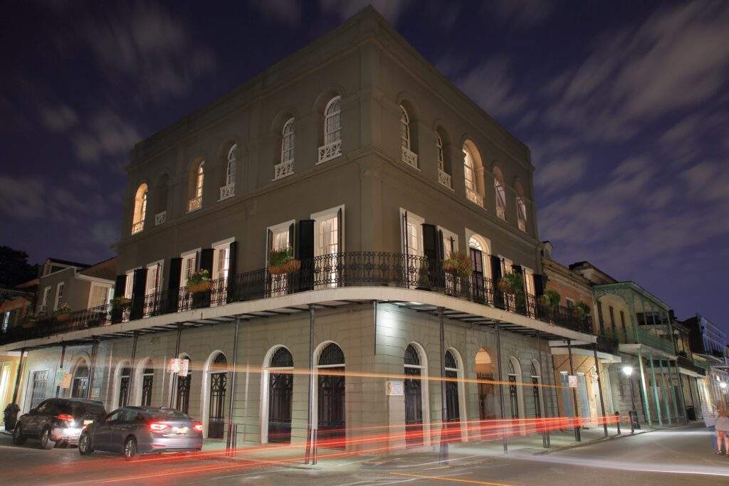 The LaLaurie Mansion in Louisiana.
