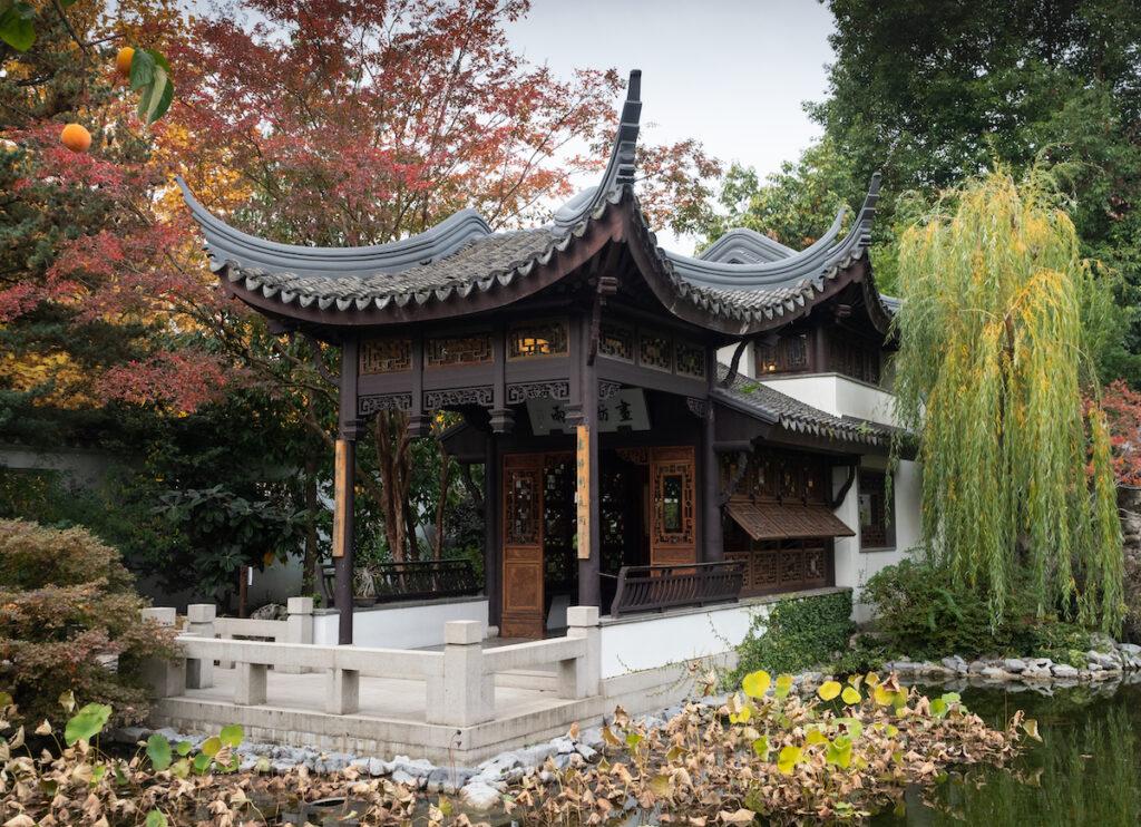 The Lan Su Chinese Garden in Portland, Oregon.