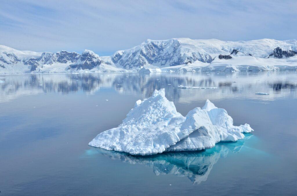 The landscape in Antarctica.