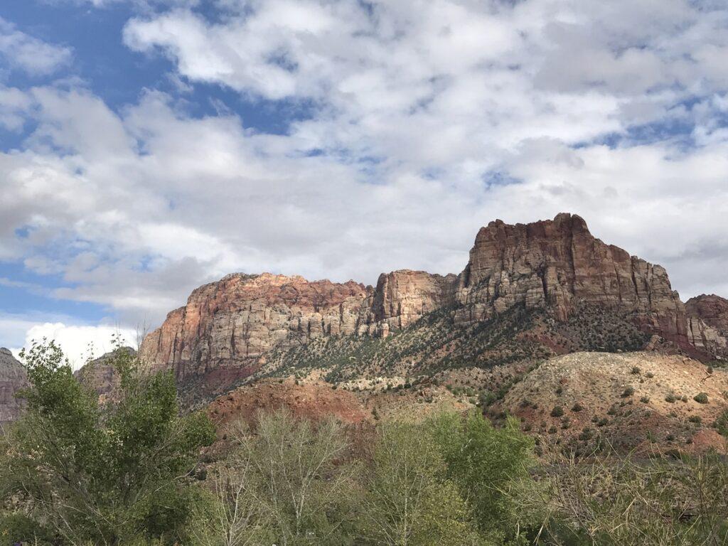 The landscape of Zion National Park.