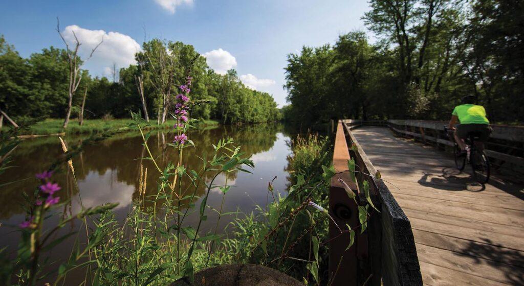 The Lansing River Trail in Michigan.