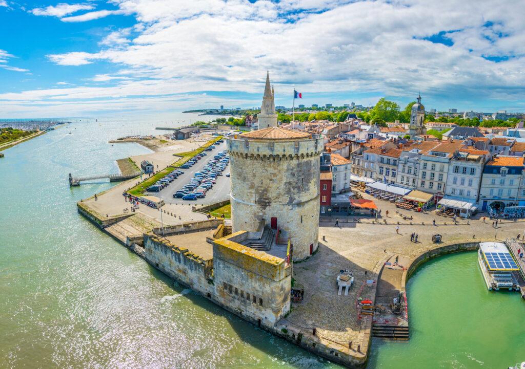 The Lantern Tower in La Rochelle, France.