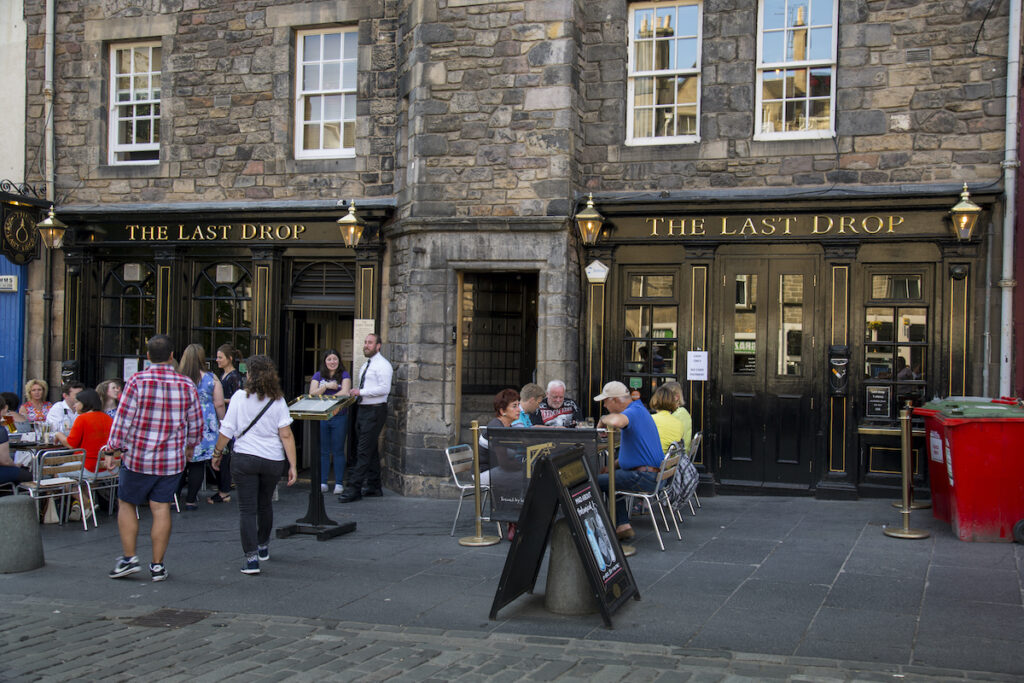 The Last Drop, a pub in Edinburgh, Scotland.