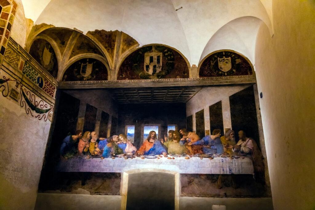 The Last Supper painting by Leonardo da Vinci in Milan.