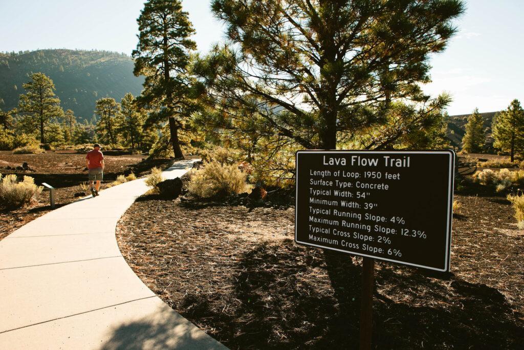 The Lava Flow Trail in Arizona.