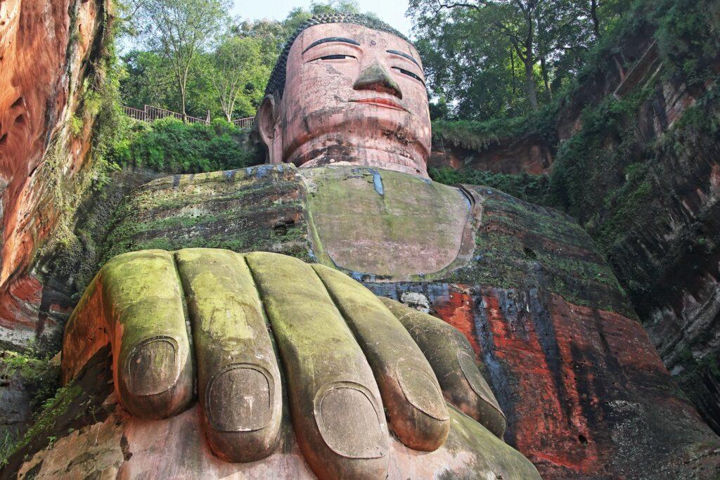 The Leshan Giant Buddha.