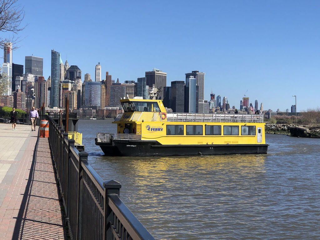 The Liberty Landing Ferry in the Morris Canal.