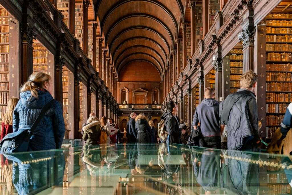 The library at Trinity College in Dublin.