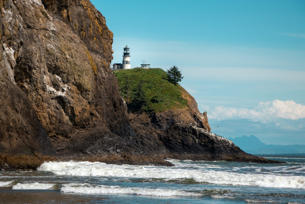 The lighthouse at Cape Disappointment State Park.