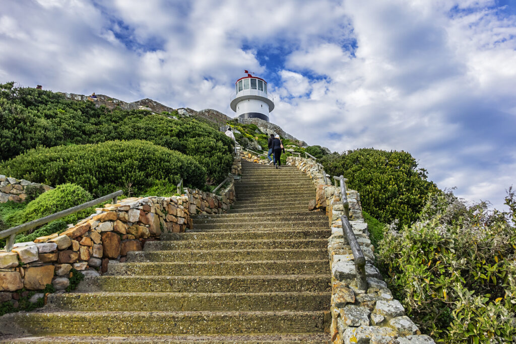 The lighthouse at the Cape of Good Hope in South Africa.