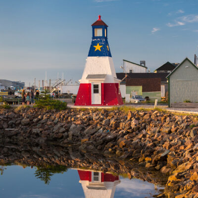 The lighthouse in Cheticamp harbor.