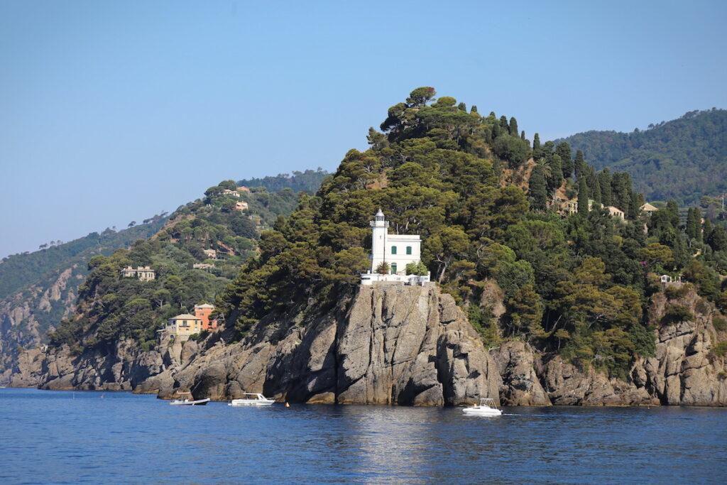 The lighthouse in Portofino, Italy.