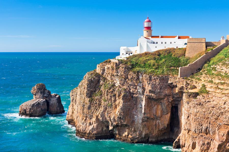 The lighthouse of Cabo de Sao Vicente in Sagres.