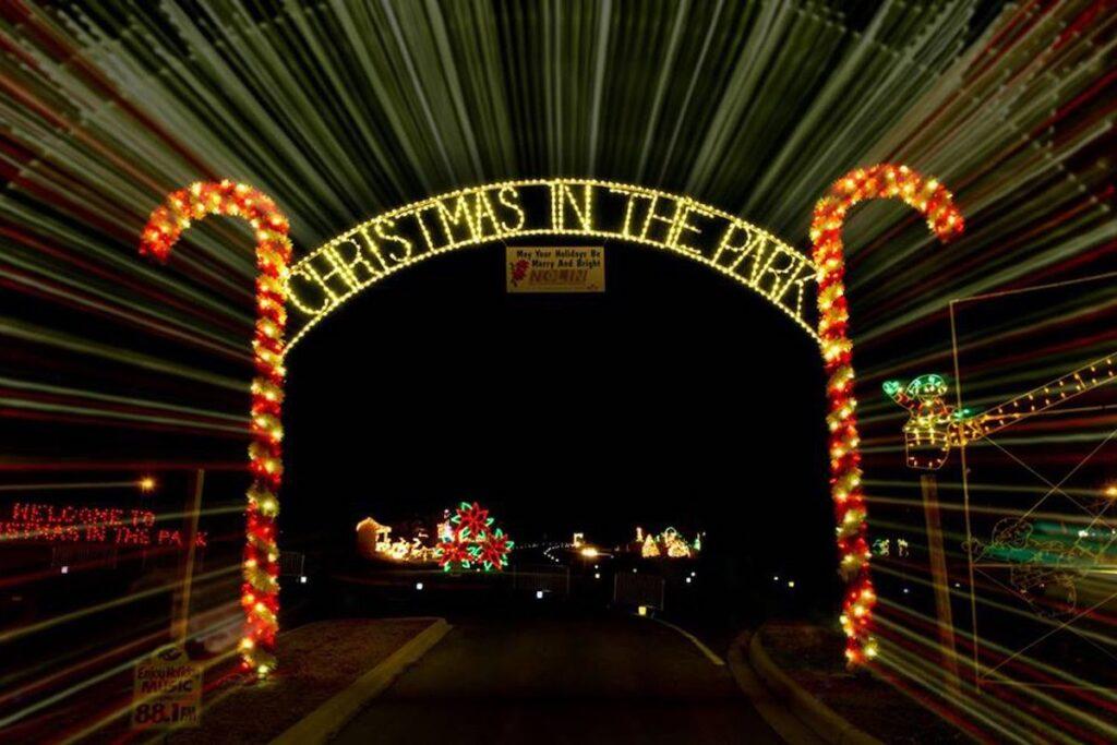 The lights at Freeman Lake Park in Elizabethtown, Kentucky.