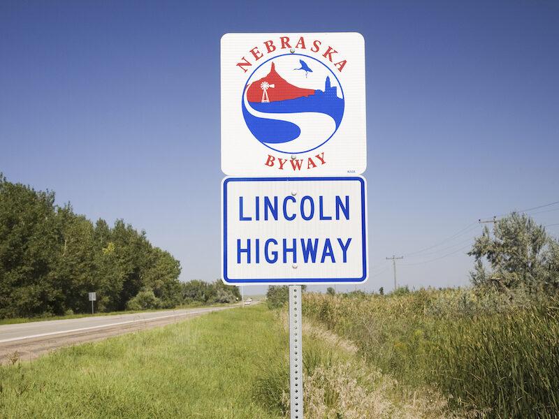 The Lincoln Highway in Grand Island, Nebraska.