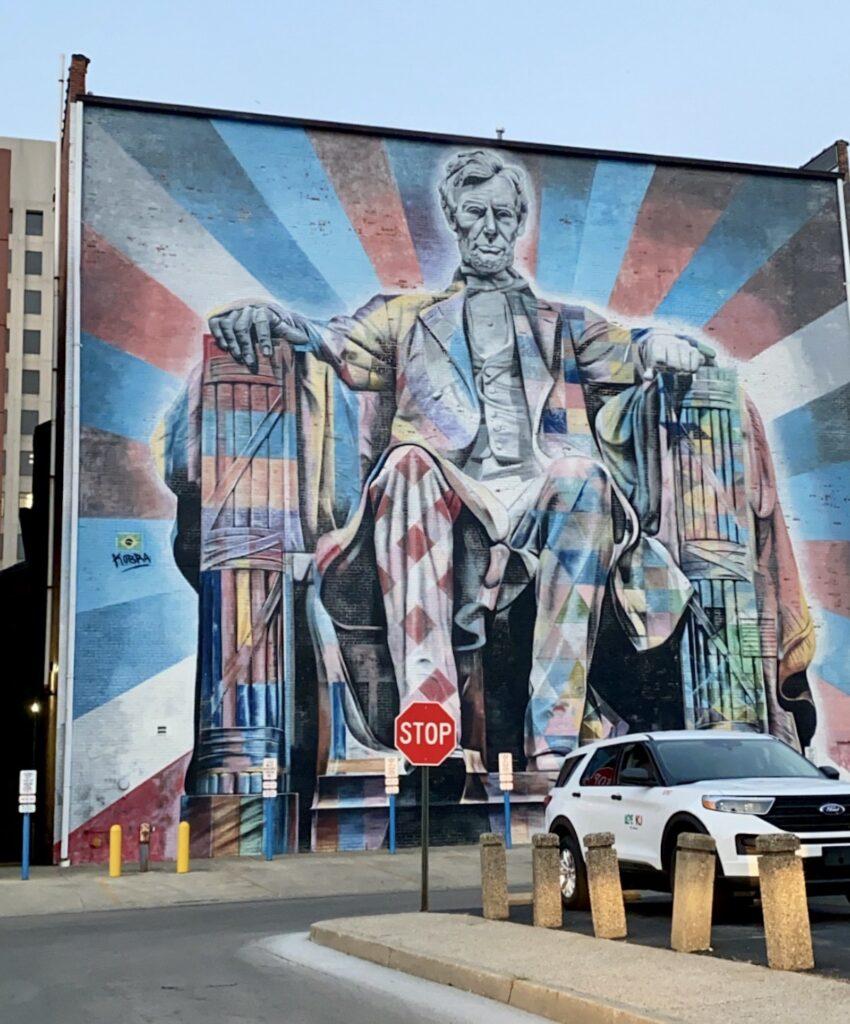 The Lincoln mural in Lexington, Kentucky.