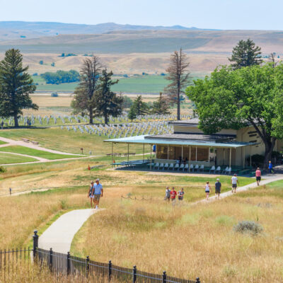 The Little Bighorn Battlefield and Museum in Montana.