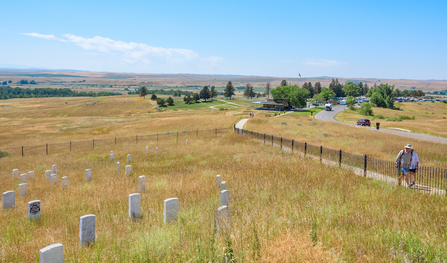 The Little Bighorn Battlefield in Montana.