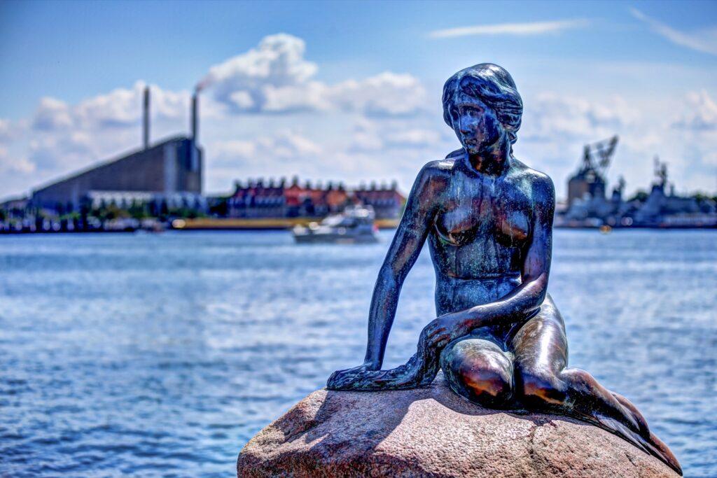 The Little Mermaid Statue in Copehagen.
