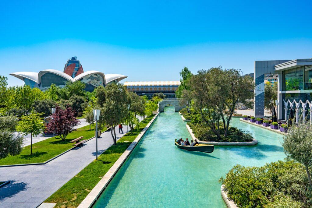 The Little Venice water park in Baku.