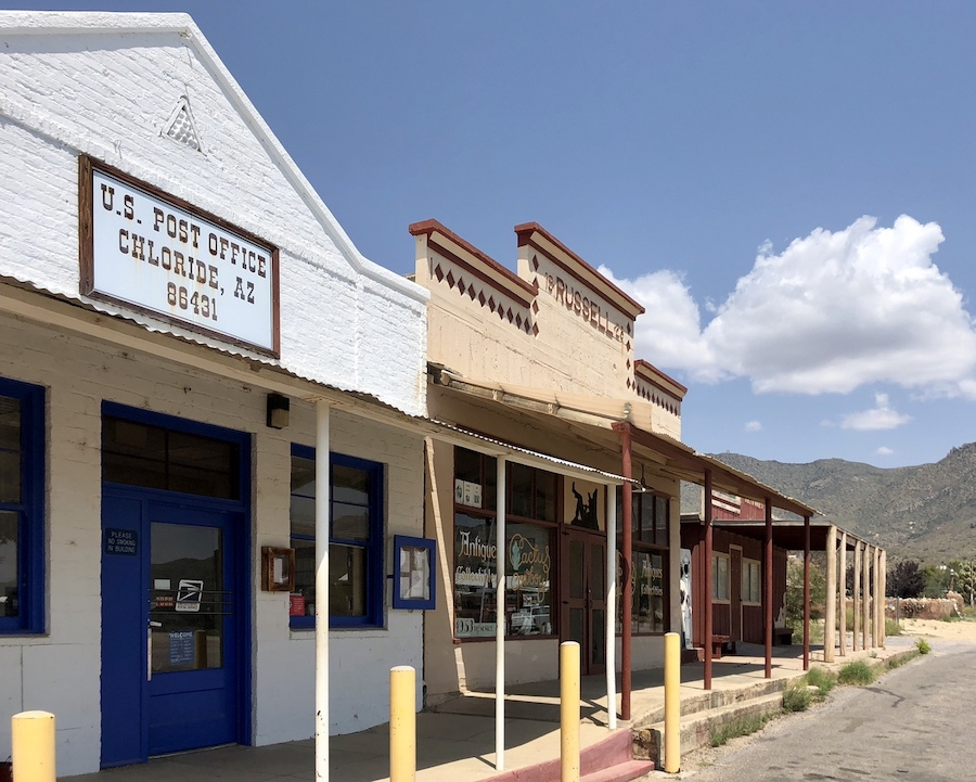 """The """"living ghost town"""" of Chloride, Arizona."""