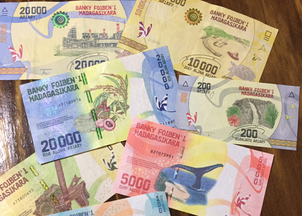 The local currency in Madagascar.